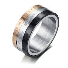 mens spinner rings online shop three fidget spinner ring for men arabic and