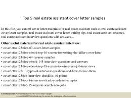 real estate assistant cover letter real estate sales assistant
