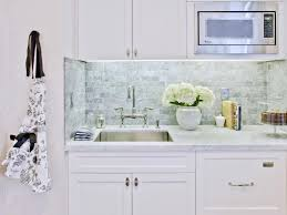 interior glass subway tile backsplash white cabinets decoration