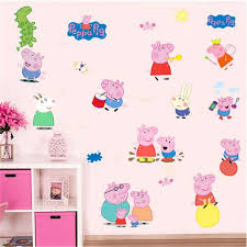 aliexpress buy cartoon diy removable peppa pig wall stickers