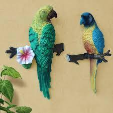 parrot home decor home decoration accessories wall stickers 3d rustic parrot decor