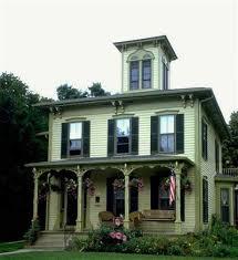 italianate victorian exterior paint color scheme nice porch design
