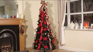 pop up pre decorated tree