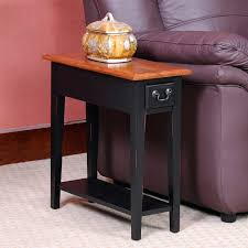 oak end tables and coffee tables side table leick furniture ironcraft mission oak drawer end
