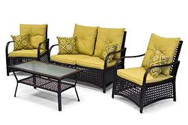 sol siesta clubhouse collection 4 piece deep seating
