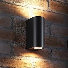 outdoor double wall light auraglow 14w outdoor double up down wall light windsor black