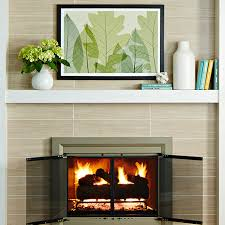 Fireplace Surrounds Lowes by Easy Fireplace U0026 Mantel Makeover Brick To Tile Design