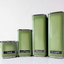 28 kitchen canisters green picholine olive green ceramic