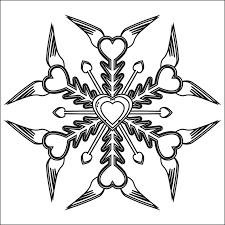 sandy hook digital snowflake black white line art coloring book