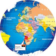 Angola Map Queen Nzinga The Monarch Of Ndongo And Matamba Angola Africa