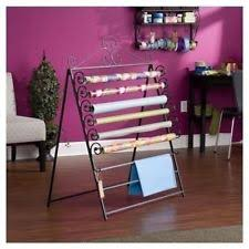 easel wall mount wrapping paper craft storage organizer gift wrap