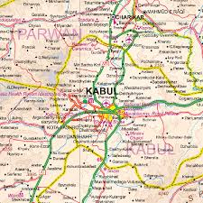 kabul map maps for travel city maps road maps guides globes topographic