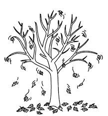 coloring fall tree coloring pages leaves page best of autumn