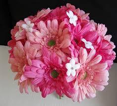 gerbera bouquet silk pink fuchsia gerbera bouquet