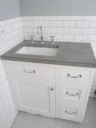 white bathroom with concrete countertop google search bathroom
