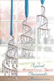 15 wintry white and blue ornaments spiral tree spiral