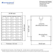 amazon com ramsond 50 watt solar panel 50w w monocrystalline
