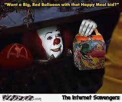 Happy Meal Meme - funny pennywise happy meal meme pmslweb