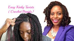 best braiding hair for twists easiest kinky twists ever crochet braids with freetress cuban