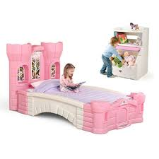 Step2 Corvette Bed Step 2 Princess Palace Twin Bed And A Pink Lift U0026 Hide Bookcase