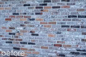 natalie creates exterior house renovation progress painted brick