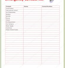contact list template free business template