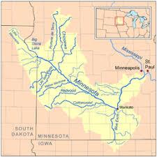 minnesota on map minnesota river