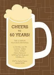 celebrate 60 birthday brown beers cheers 60th birthday invite pinteres