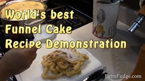 world u0027s best funnel cake recipe demonstration youtube