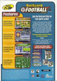 backyard football computer game home design