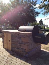 Backyard Bbq Grill Company by Built In Stone Smoker Island Sandscapes Pinterest Stone
