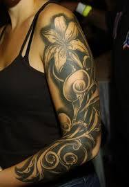 new black ink tribal wave rose tattoo design in 2017 real photo
