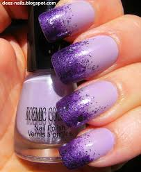 deez nailz purple sponge kozmic colours