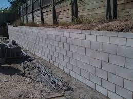 Retaining Wall Garden Bed by Interior Decorative Cinder Blocks Retaining Wall Powder Room