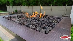 outdoor fire pit lava rock youtube