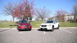 subaru crossover 2015 2016 mazda cx 5 vs 2015 subaru crosstrek xv driving reviews