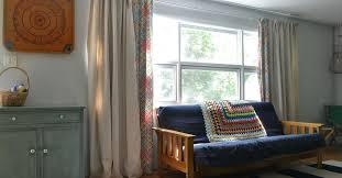 Curtains For A Large Window Diy Lined Drop Cloth Curtains Modified For Large Windows Hometalk