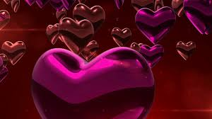 3d animation of chocolate and red and pink sweet heart symbol in