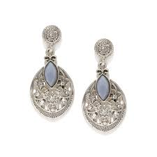 accessorize earrings dressberry silver toned studded drop earrings