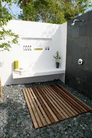Simple Outdoor Showers - bathroom ideas beautiful white vintage house with outdoor shower