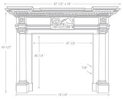 english marble fireplace mantel st james hm400