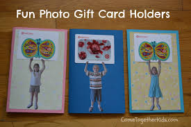 gift cards for kids come together kids photo gift card holder and thank you booklet