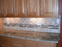 mosaic glass backsplash kitchen travertine subway tile kitchen backsplash with a mosaic glass border