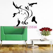 beauty hair salon wall sticker fashion girl woman butterfly beauty hair salon wall sticker fashion girl woman butterfly scissors comb haircut hair dressing wall stickers for home decor wall art wall decals wall art