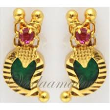 kerala earrings kerala earring palakka traditional india indian earstud micro gold