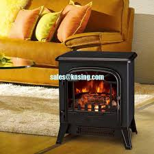 Electric Stove Fireplace Electric Fireplace Heater Log Burning Flame Effect Antique