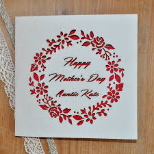 laser cut personalised mother u0027s day card by sweet pea design