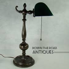 Old Fashioned Desk Lamp Bronze Emeralite Desk Lamp From Dtrantiques On Ruby Lane