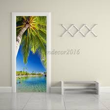 wall decals stickers home decor home furniture diy 3d wall sticker decal art decorative home door wall mural decor coconut tree