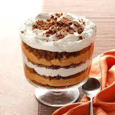 fancy thanksgiving desserts pumpkin butterscotch gingerbread trifle recipe taste of home